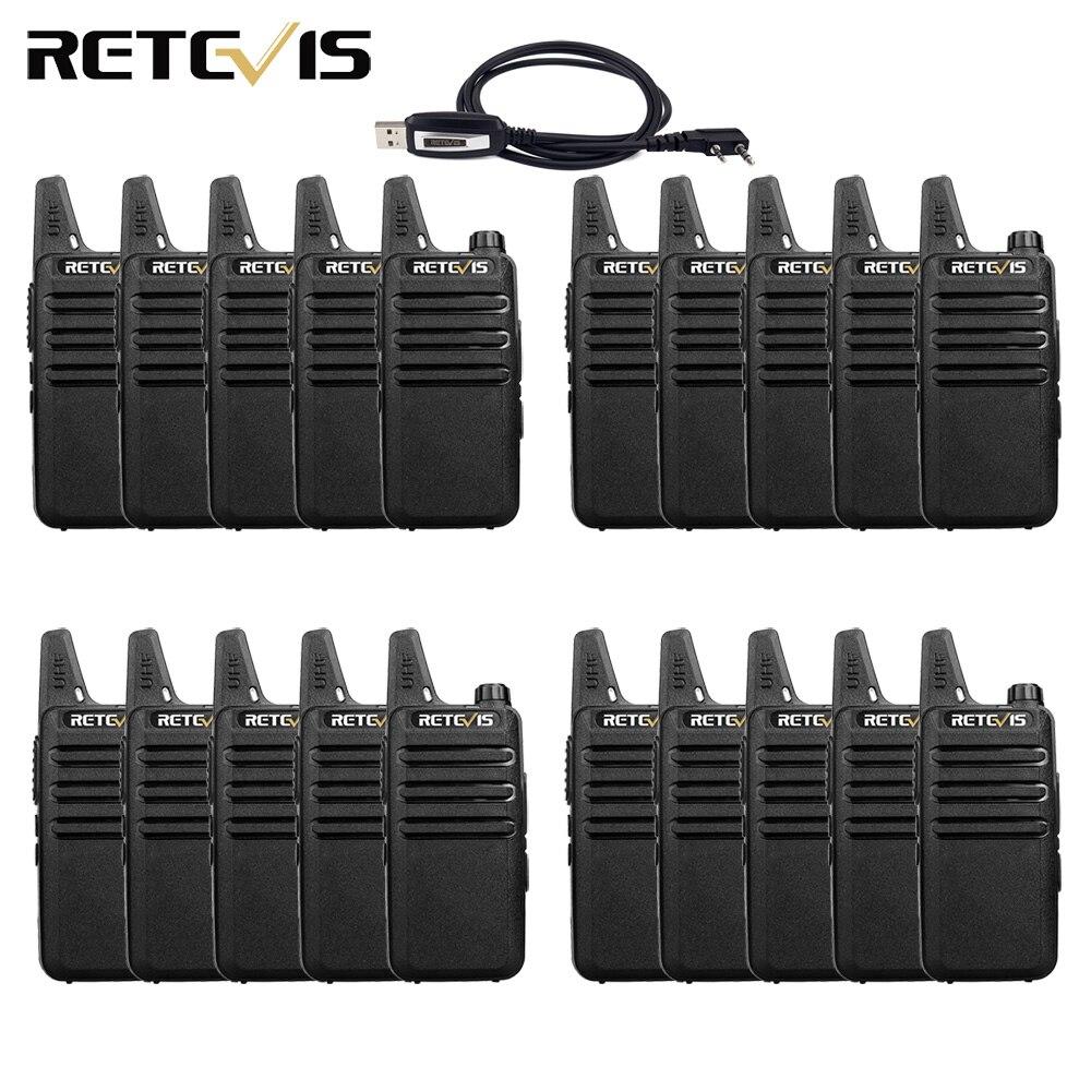 20 pièces Mini talkie-walkie rechapé RT622 RT22 extrême Ultra-mince UHF VOX PMR446 FRS Radio Hf émetteur-récepteur Radio bidirectionnelle