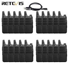 20 sztuk mini walkie talkie Retevis RT22 ekstremalne ultra cienki 2 W UHF VOX Ham Radio Transceiver Hf Two Way Radio stacja
