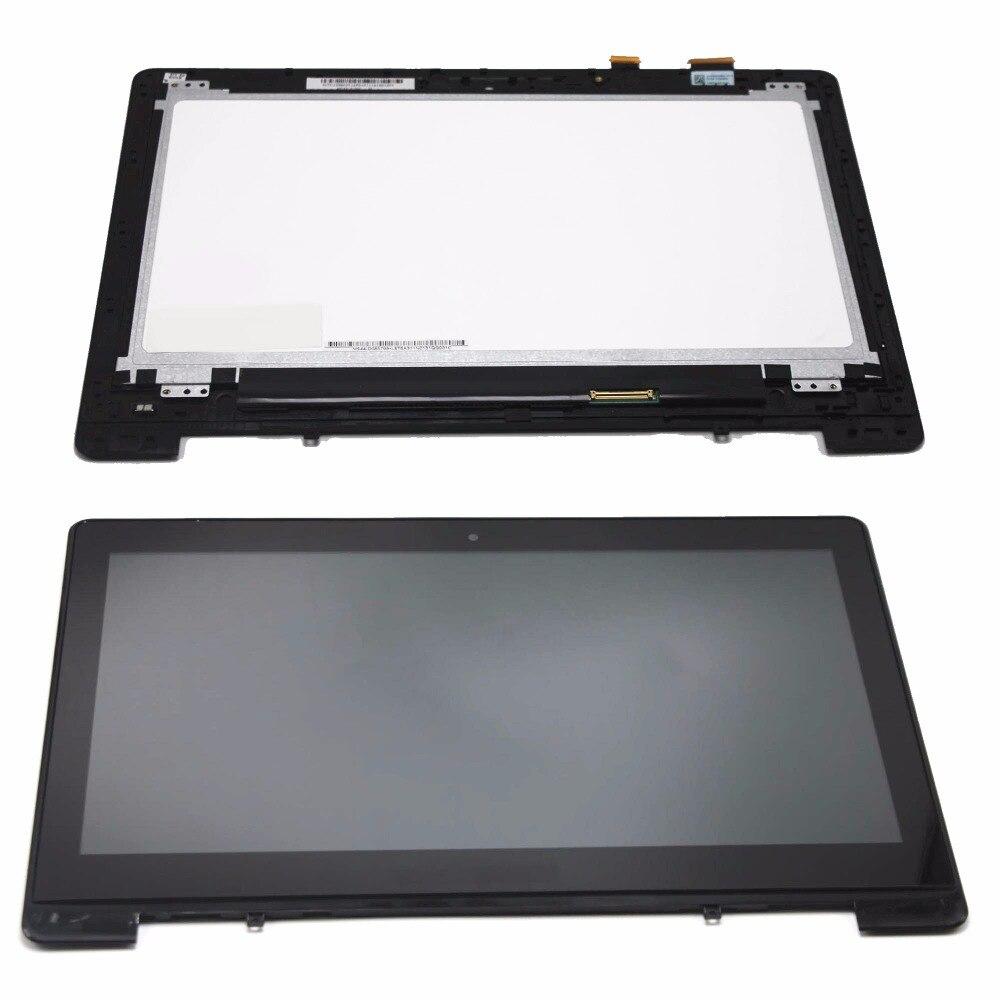 Nouveau 13.3 Écran tactile Panneau En Verre Digitizer + LCD Assemblée D'affichage avec Lunette N133BGE-L41 pour Asus VivoBook S301L S301LA Série