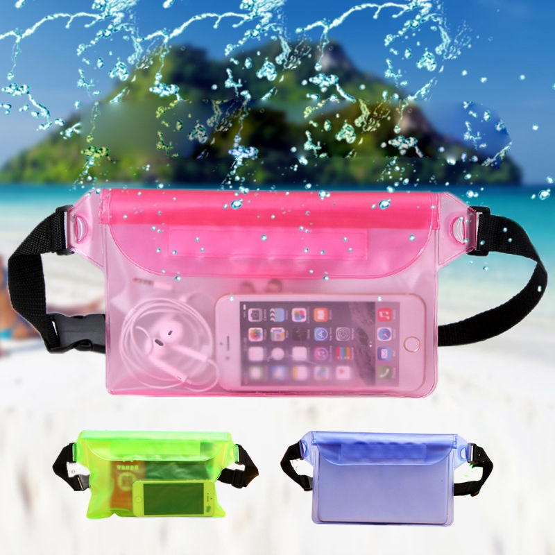 Waterproof Pouch Mobile Phone Bag Money Case With Waist Strap Gym Bag For IPhone 7 Swimming Boating Drifting Diving Rowing Boat