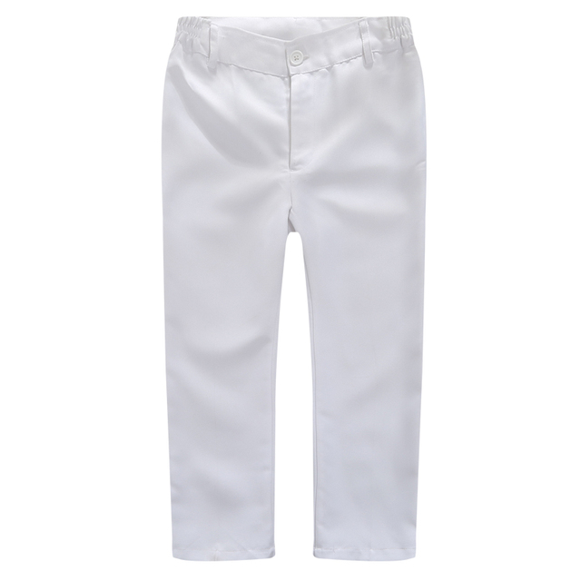 Boys Trousers Chorus Clothing Pure White/Black Students Recital Contest Straight Pants Boys Comfortable Latin Dance Trousers