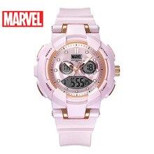 Disney Womens Marvel Electronic Watch 100m Waterproof Ladies Sports Digital Watch 2019 New Chronograph Female Wrist Watch