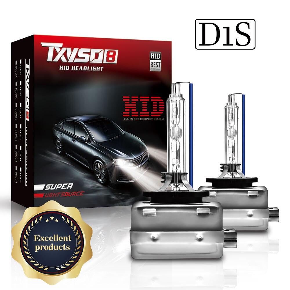 TXVSO8 Super Bright Faróis D1S D2S D3S D4S 55W 9000LM Automóveis Xenon HID Bulbo Do Carro Faróis 4300k 6000K 8000K 12000k Kit