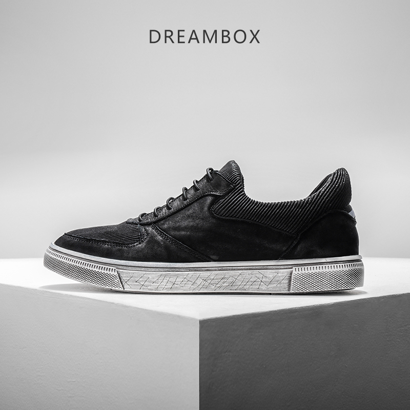 dreambox In Europe and the tide nubuck leather breathable vintage old dirty shoes men's casual shoes low dreambox summer leisure trends in europe and america mesh breathable shoes set foot thick soled shoes