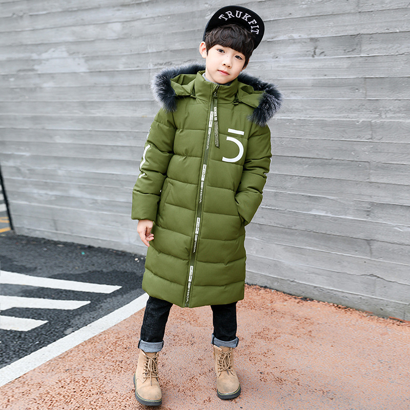 Garment New Pattern Cotton-padded Clothes Long Thickening Loose Coat Kids Down Parkas Jackets For Boys new pattern winter jacket men cotton padded loose coat long down thickening cotton oversize parka casual warm outwear