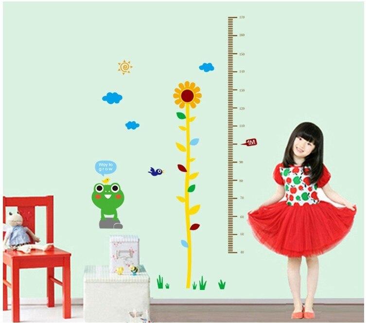 Little Frog Height Wall Sticker For Kids Room Wall Art Mural ...