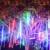 Tubos Coversage 50 cm Meteor Shower Luzes Da Árvore de Natal Ao Ar Livre Led String Garland Jardim Guirlande Lumineuse Luces Navidad