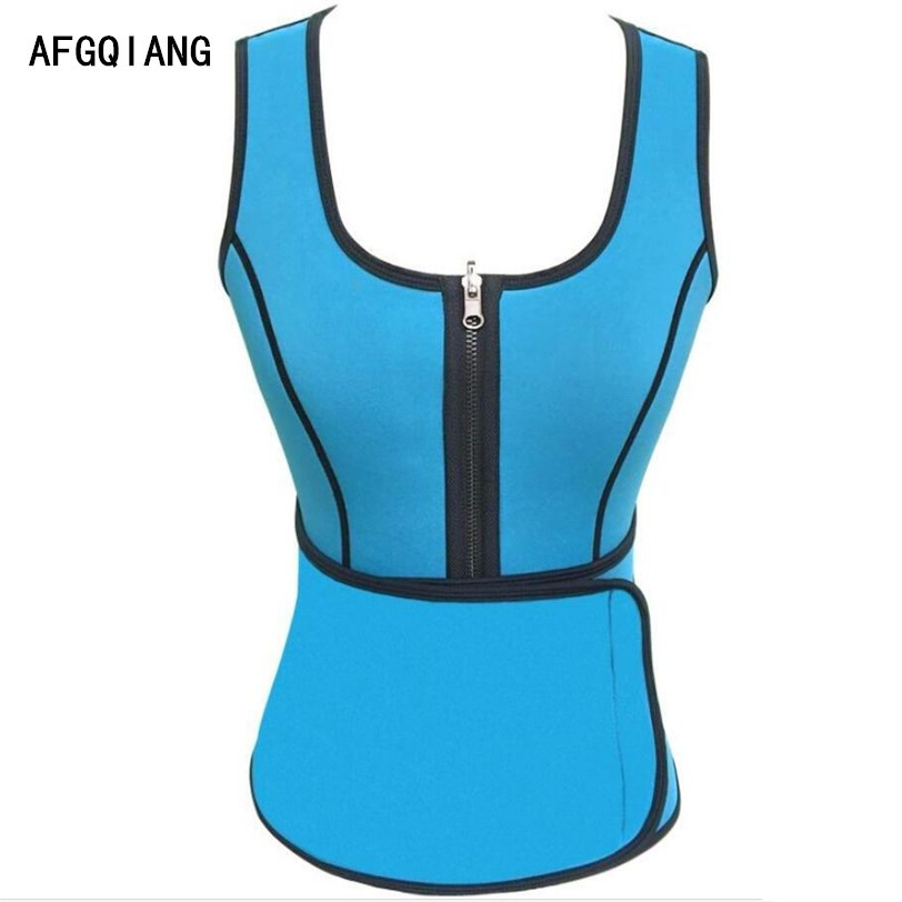 4263c18027 2017 body shaper neoprene waist trainer waistcoat reducer belts weight loss  corset fitness sweat tummy slimming belt shaper-in Tops from Underwear ...