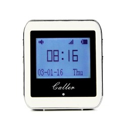 TIVDIO Calling Paging System 433MHz 999 Channel RF Wireless White Wrist Watch Receiver For Fast Food Shop Restaurant F3288B