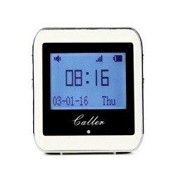 TIVDIO llamada Sistema de paginación 433 Mhz 999 canales de RF Wireless receptor de reloj para la tienda de comida rápida restaurante F3288B