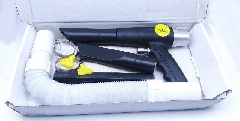 New 1pcs 2in1 Air Vacuum Cleaner Gun Blowing Gun  With 2 Nozzle Pneumatic Tool