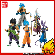 """Oryginalny Bandai wysokiej jakości prawdziwa figura Gashapon PVC zabawka 02 pełny zestaw 5 sztuk Broly Goku Gogeta Whis """"Dragon Ball SUPER"""""""