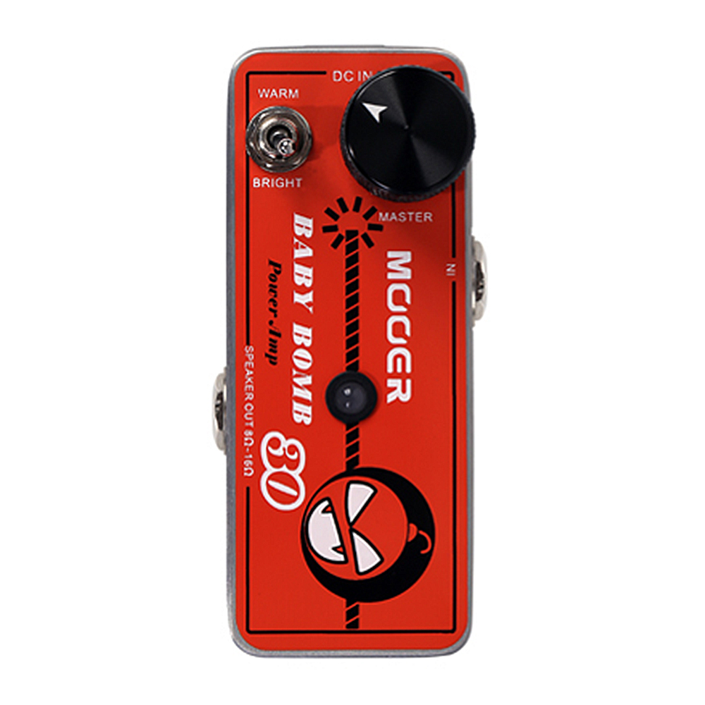 Mooer Baby Bomb Guitar Effect Pedal Master Volume Provide Warm True Tube Like 30W Digital Micro Power Amp BM30 mooer ensemble queen bass chorus effect pedal mini guitar effects true bypass with free connector and footswitch topper