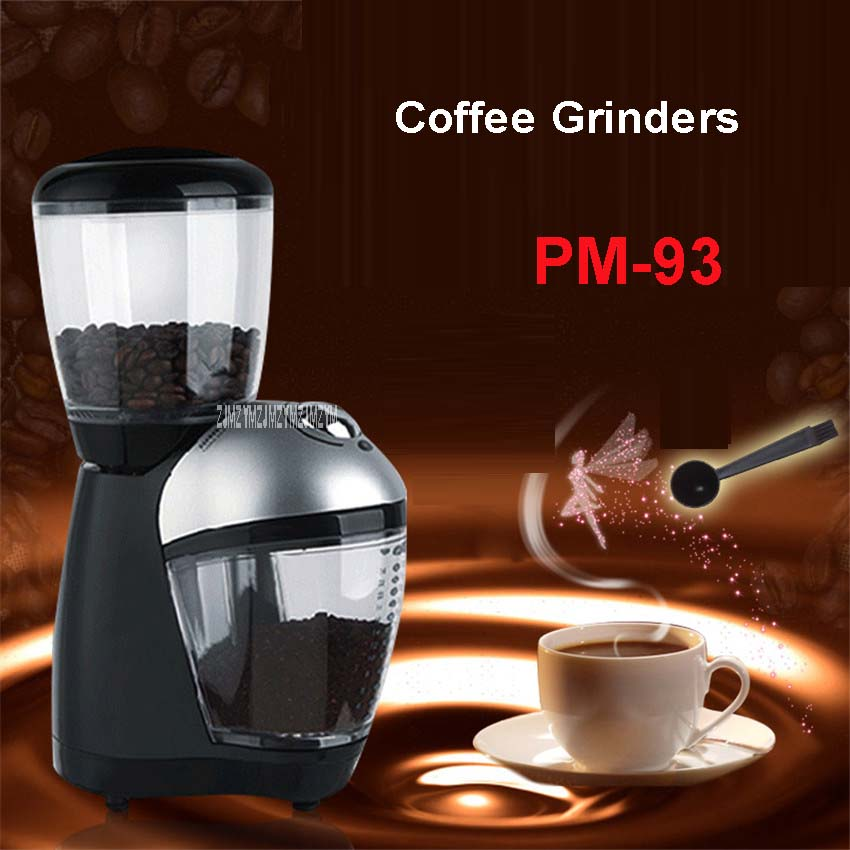 PM-93 High Quality Cafetera 200W For Professional Power Burr Coffee Grinder/Coffee Mill /Grinding Machine Grinders Nuts Grinders 220v new 200w high power professional burr coffee grinder coffee mill electric grinding machine beans nuts grinders high quality