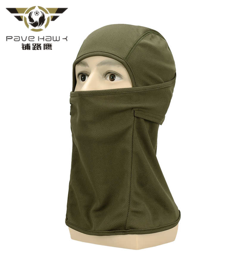 Military Camouflage Windproof Mask, Full Face Neck Guard Masks, Ninja Headgear Hat, Tactical Biking protection Masks