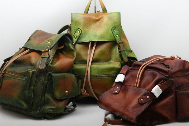 KatzHigh qualité hommes en cuir véritable sac à dos Vintage à la main sac à main mâle rétro sac à dos grand classique mode voyage sac à dos