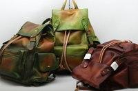 Katzhigh качество Для Мужчин's Пояса из натуральной кожи рюкзак Винтаж кошелек ручной работы мужской ретро рюкзак большой классические модные п