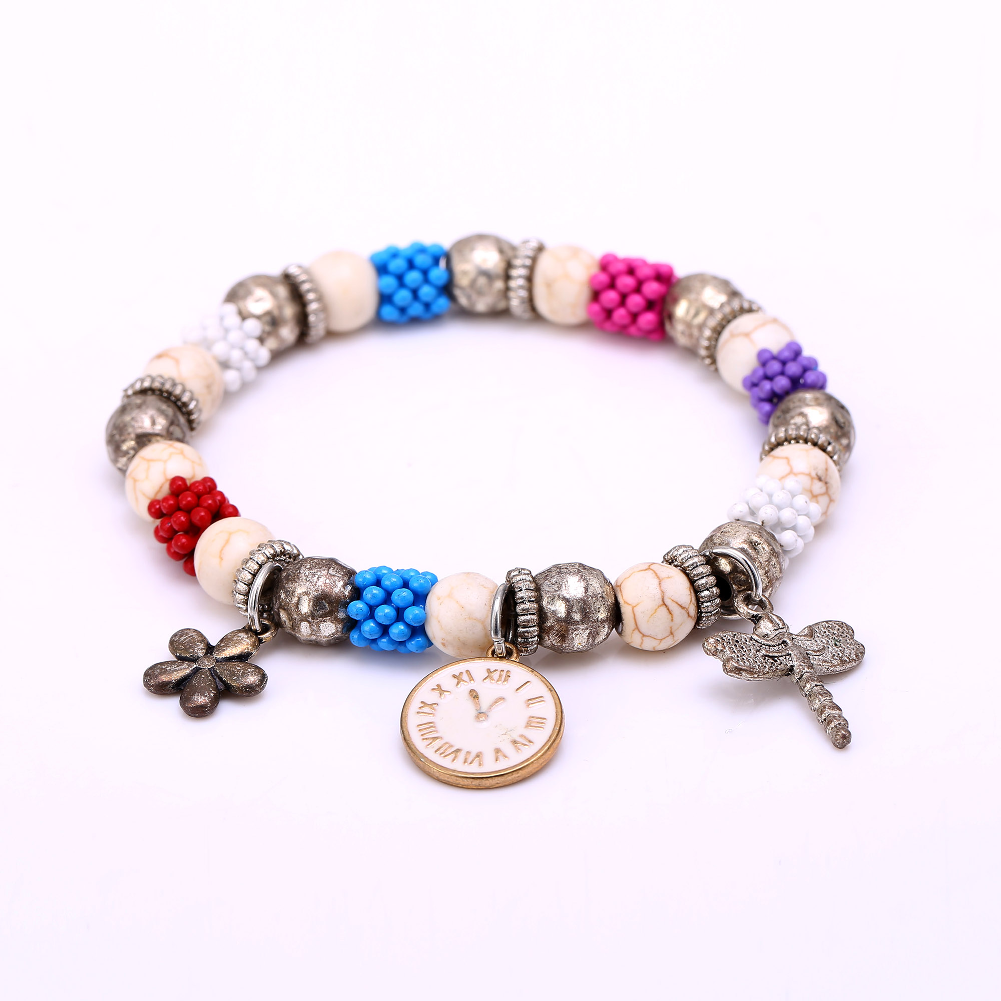 hamsa beads stone charm with infinite gold bracelet products bead bracelets lava silver