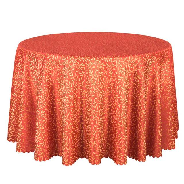 10PCS Poly Jacquard Hotel Tablecloths Red Round Table Cloth Luxury Party  Wedding Table Cover Dining Table