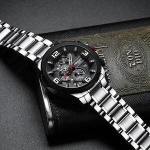 Image 4 - NIBOSI hommes montre Reloj Hombre 2018 hommes montres haut marque de luxe montre à Quartz grand cadran Sport étanche Relogio Masculino Saat