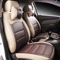 Cuero del asiento de coche especial cubre Para Peugeot 205 206 207 2008 3008 301 306 307 308 405 406 407 accesorios car styling