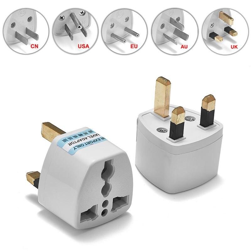 100pcs Universal USA EU AU UK Plug AC Power Socket Plug International Japan CN Travel Adapter