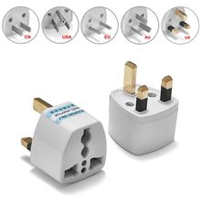 ( 100 pcs/lot ) Universal US EU AU To UK 3-Prong AC Travel Power Plug Outlet Converter Adapter