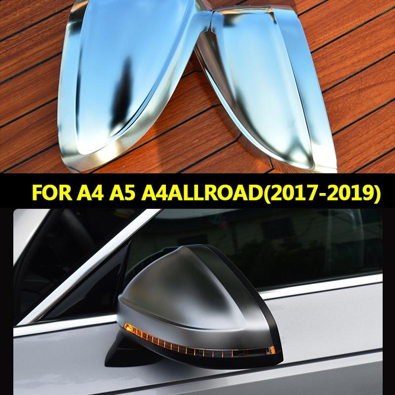 For Audi A4 2017 2018 2019 A5 B9 2018 2019 A4 allroad Quattro S4 S5 Side Wing Mirror Caps For Audi Mirror Covers Matt Silver