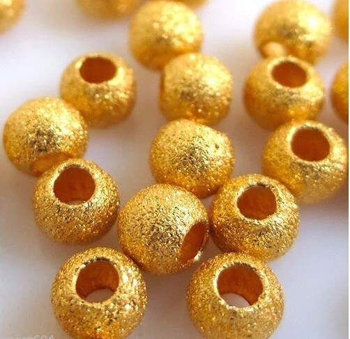 New BEST Pure 999 24K Yellow Gold / Lucky Frosted Bead Pendant /10pcs Beads 1.0g classic new 10pcs 999 24k yellow gold pendant sandstone loose bead pendant