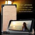 Imán cubierta del caso del soporte para lenovo tab 3 730f 730 m 730x7 pulgadas tablet funda protectora cubierta de cuero de la pu