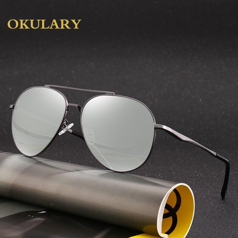 Hommes lunettes de soleil polarisées noir/marron cadre en métal UV400 haute qualité lunettes de conduite lunettes viennent avec boîte