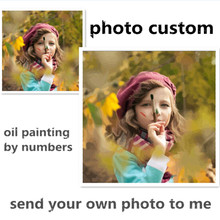 Photo custom make your own diy digital oil painting by numbers picture drawing on canvas portrait wedding family photos SS001(China)
