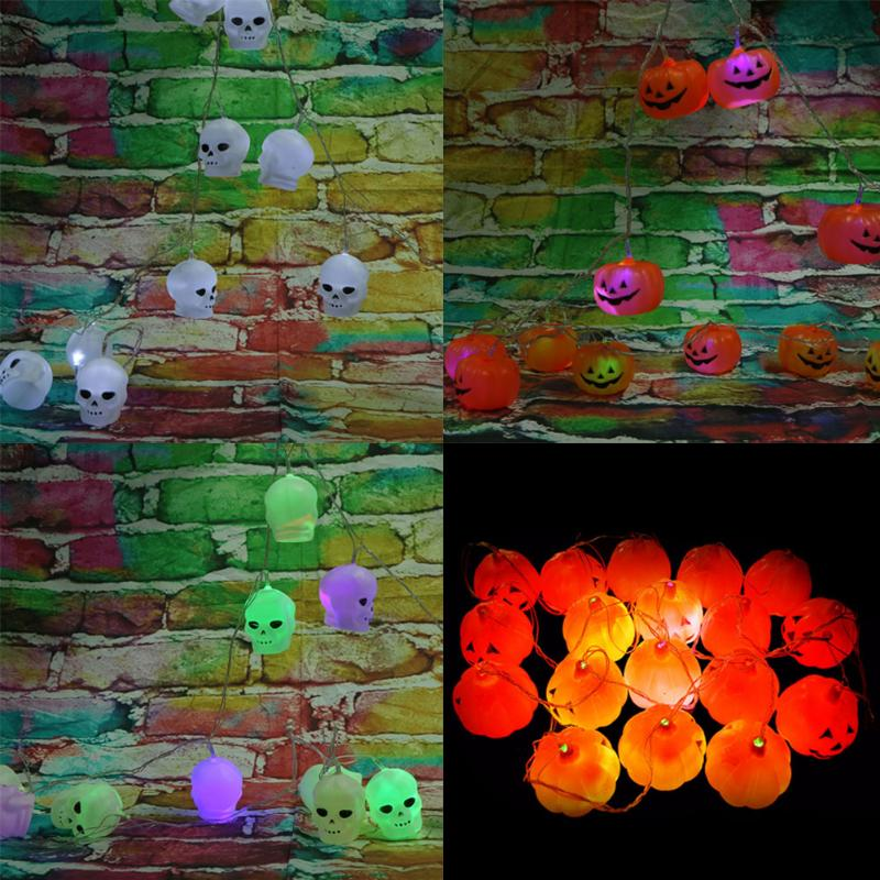 3.5M Glowing Pumpkin String Light Luminous Horror Skull LED for Halloween Party Haunted House Decoration Event Party