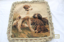 Free Shipping 20″x20″ Aubusson woolen cushion 100% New Zealand Wool handmade pillow for home decoration, NO INSERTION