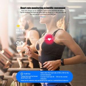 Image 2 - ID115 زائد شاشة ملونة سوار ذكي الرياضة ساعة عداد خطى اللياقة البدنية تشغيل المشي المقتفي القلب معدل عداد الخطى الذكية الفرقة