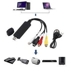 Convertitore da usb 2.0 VHS a DVD converti Video analogici in formato digitale Audio Video DVD VHS registrazione scheda di acquisizione adattatore per PC di qualità