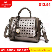 Роскошные сумки женские сумки дизайнерские сумки высокого качества из искусственной кожи сумка известного бренда Ретро сумка на плечо с заклепками Sac основной