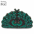 Emerald Green Luxury Phenix Crystal Evening Bags Animal Clutch Designer Women Clutches Bridal Wedding Handbags Purses Party Bag