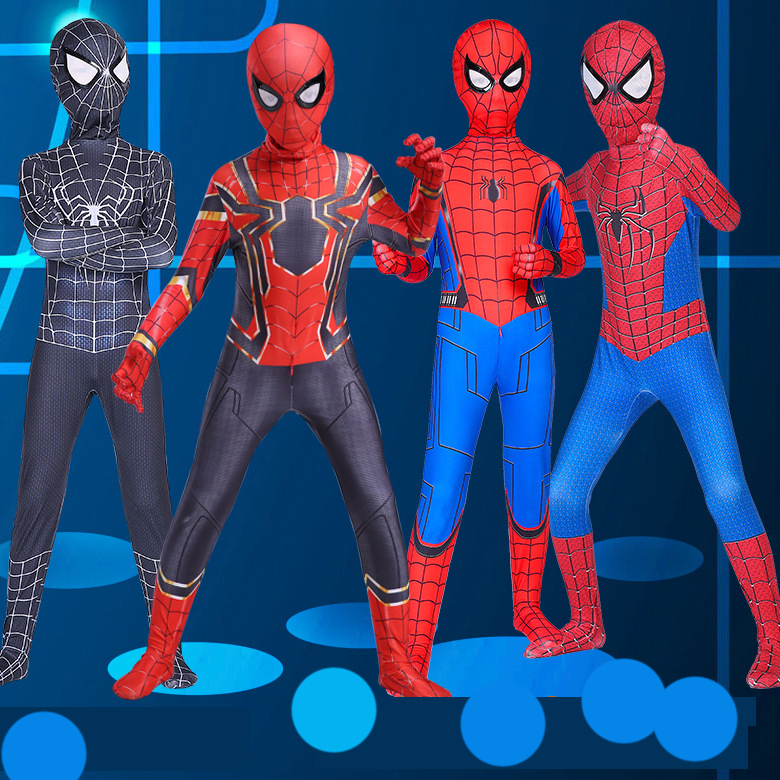 Red Black Spiderman Costume Spider Man Suit Spider-man Costumes  Children Kids Spider-Man Cosplay Clothing Halloween Costume