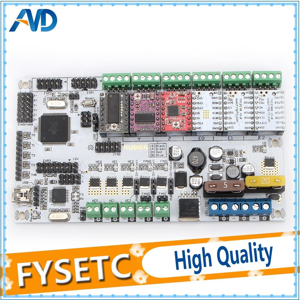 Rumba Plus Carte Mère 2560 R3 Upgrade Processeur Rumba + Tableau De Commande Avec 6 pcs TMC2100/TMC2208/TMC2130/ a4988/DRV8825 Pilotes