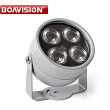 Iluminador led IR CCTV para cámara IP de cámara de vigilancia CCTV, iluminación infrarrojo IR para exteriores, impermeable, visión nocturna, 4 matriz
