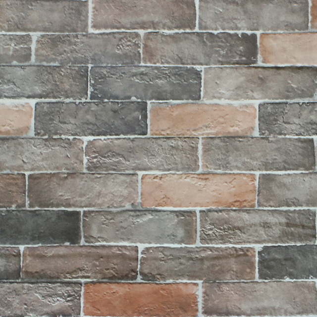 Haokhome 3d Vintage Faux Brick Peel Stick Wallpaper Self Adhesive