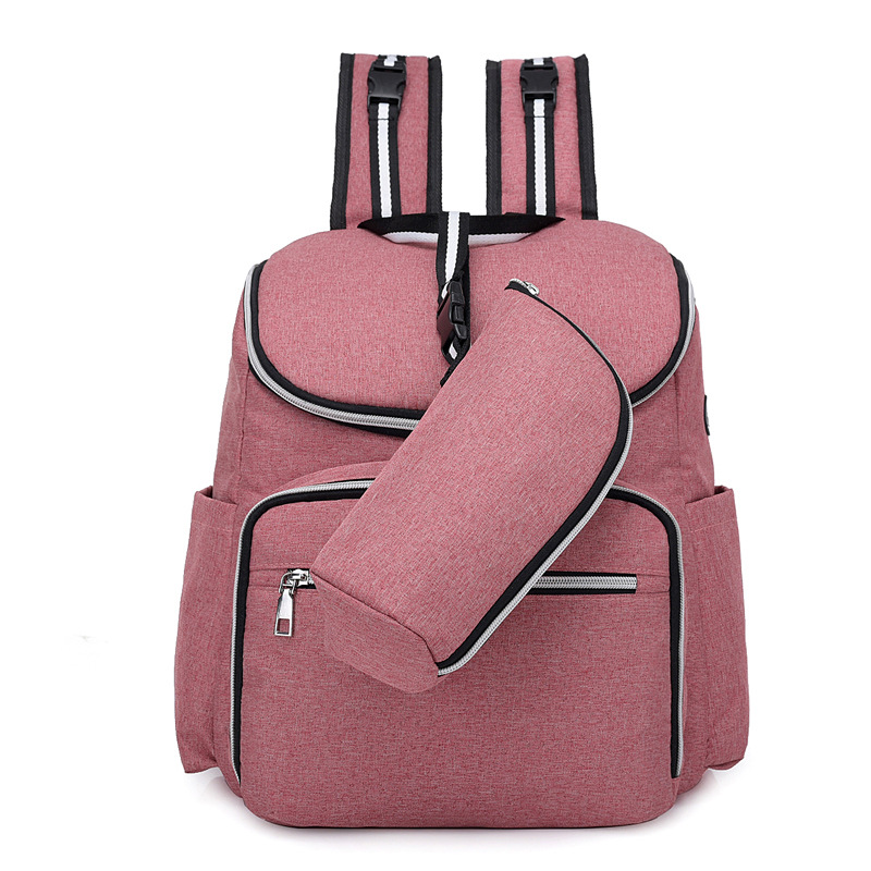 Solid USB Interface Nappy Backpack Bag Mummy Maternity Nursing Diaper Bag Care Travel Backpack Large Capacity Mom Dad Diaper Bag multi function mummy diaper bag backpack fashion mom maternity nappy bag large capacity nursing baby care wetbag travel backpack