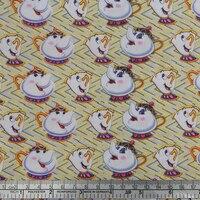 50*145 cm dessin animé mosaïque coton Polyester imprimé tissu pour Tissu Enfants Literie textile à la maison pour la Couture Poupée Tilda, c585
