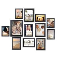 HOMEMAXS 12 PCS Assorted Size Picture Frames Christmas Photo Frames Set For Home Office Decoration (Black)