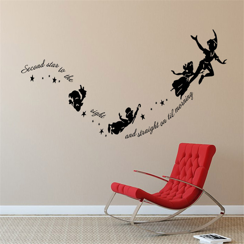 Tinkerbell Second Star To The Right Peter Pan Home Wall Decal