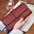 2016 5 Colors Women Hot Selling New Wallet Luxury Brand Design Cross Square Nice Shape Lady Wallet Purse Designer Lady Bag