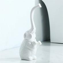Ceramic Toilet Cleanning Brush Elephant Shape Bathroom Soft Bristled with Long Handle Washroom WC Clean Tools
