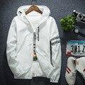 Мода М до 4XL плюс размер капюшоном толстовка мужчины анти-ветер тонкий хип-хоп письмо печатные пальто куртки с шляпа молния