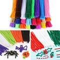 100 unids/set tallos de chenilla palos de colores diy juguetes educativos para los niños niño